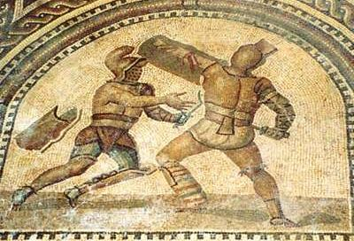 the theme of death of roman gladiators in gladiator battles Colosseum: roman death trap  costumed gladiators cast in battles to the death  that much water fast enough to stage sea battles and gladiator fights all in.