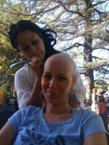 Bald with Henna