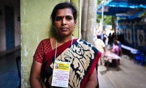 Suma, of the Karnataka Garment Workers Union
