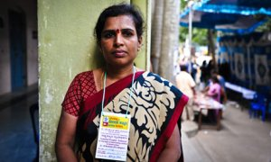 Suma, of the Karnataka Garment Workers Union