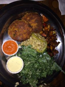 Chickpea Cutlet Plate