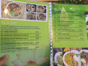 All Chay Menu