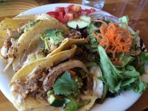 Jackfruit and Kimchi Tacos